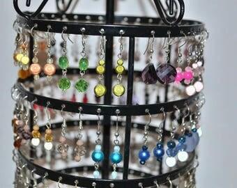 small earrings plum / purple
