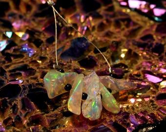 Natural Ethiopian Opal Polish Rough 5 PCs 3x10 To 5x13 MM Fire Opal Rough Jewelry Making Opal.