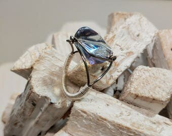 NEW! HOT for Summer! Aura Luster Glass Ring
