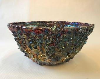 Fat runny glaze bowl