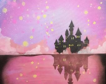 fairy castle painting