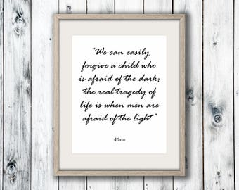 Plato Quote, Wall Art Print, Home Decor, Printable Digital Download, Poster Print