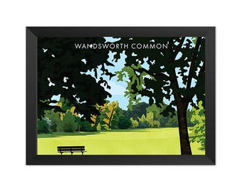 Wandsworth Common SW18 - Giclée Art Print - South London Poster