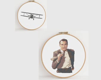 North by Northwest Counted Cross Stitch Pattern: Digital Download