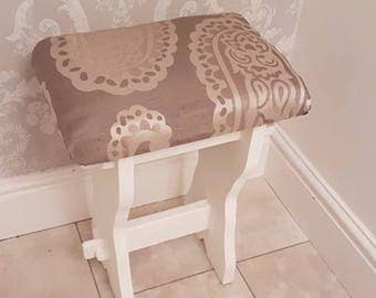 Piano Stool/ Buffet Upholstered in Laura Ashley Fabric Various Fabrics Available
