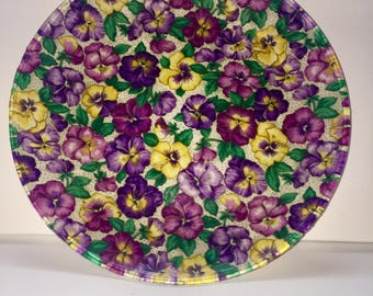 Decorative Floral Plate