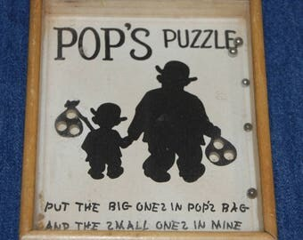 Vintage POP'S PUZZLE No. VA 14 Joseph W. Drueke Co. Grand Rapids, Michigan wood frame