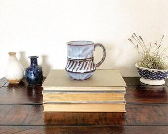 Vintage Handmade Boho Southwest Style Ceramic Glazed Pottery Coffee Tea Mug Cup