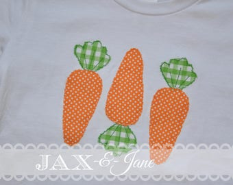 Easter Carrot Applique Design