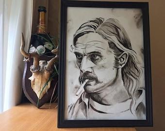 Rust Cohle - True Detective - Matthew McConaughey - original painting