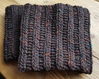 Woollen boot cuffs, crocheted and handmade