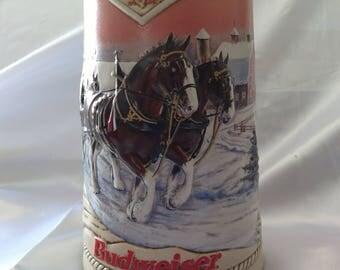 1996 Budweiser Stein Holiday