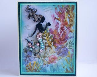 Mermaid in the coral