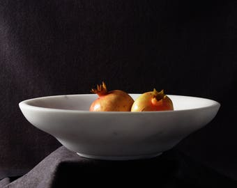 Marble Bowl, Hand carved Minimalist Bowl