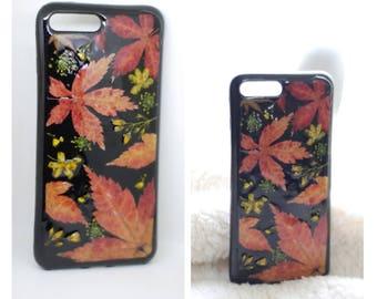 Pressed flowers phone case