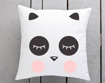 panda cushion, panda pillow, panda gift, panda lover, panda throw pillow, panda homewares, house warming gift, new home gift