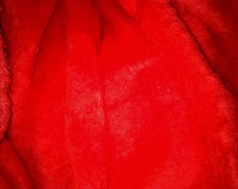 fabric faux fur collar red selling by the yard
