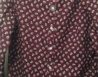 Large size Maroon RJR.JOHN ROCHA shirt -Tailored fit, reduced price