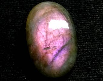 Labradorite Purpel Oval Cabochon,1 Piece ,Size- 26x16x7 MM, Purpel  Flashy , AAA,  Loose Gemstone, Smooth Cabochons.
