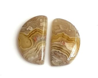 Crazy Lace Agate Fancy Pair Cabochon,Size- 17x10 MM, Natural Crazy Lace Agate , AAA,Quality  Loose Gemstone, Smooth Cabochons.
