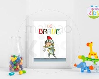 Knight Warrior | Children's Room Decor | Children's Frames | Baby Gift | Children Room | Matnao Kids | printable | Baby Gifts