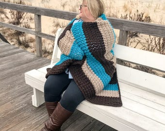 Bulky crochet lap blanket, Crochet Lap Blanket