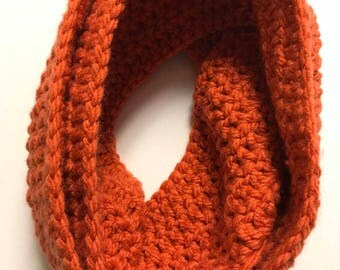 Ready To Ship-Burnt Orange Bulky Infinity Scarf