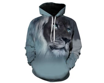 Lion Hoodie, Lion, Lion Hoodies, Animal Prints, Animal Hoodie, Animal Hoodies, Lions, Hoodie Lion, Hoodie, 3d Hoodie, 3d Hoodies - Style 10