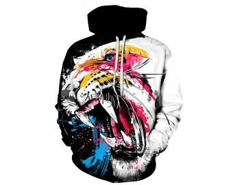 Tiger Hoodie, Tiger, Tiger Hoodies, Animal Prints, Animal Hoodie, Animal Hoodies, Tigers, Hoodie Tiger,Hoodie,3d Hoodie,3d Hoodies Style 5