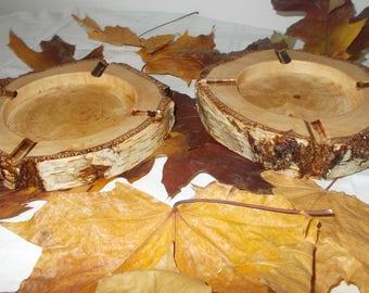 Rustic Ashtray, Massive Birch Wood, Cigar ashtray, Hand turned ashtray, Rustic Wood cigar ashtray, Cigar Supplies, Birch Wood ashtray, Cigar