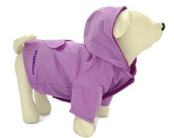 Purple waterproof pet coat model Purple Heart