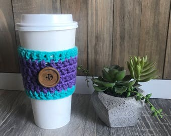 Purple and Turquoise Cozy