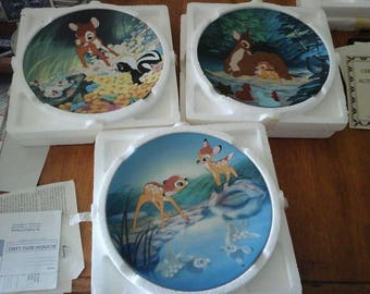 Disney Bambi Collectible Plates, 3
