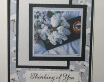 Pretty Blue Thinking of You Card