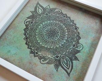Hand Printed Mandala