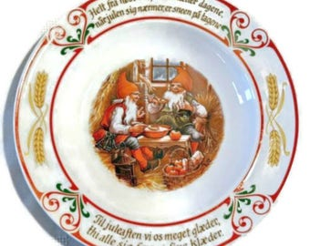 Vintage 1985 SCHUMANN ARZBERG Juletradition Porcelain Collectible Plate #11 Bavaria Germany