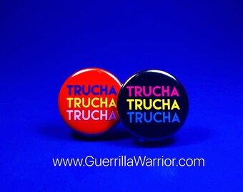 Trucha! (1.25 inch pin-back button)