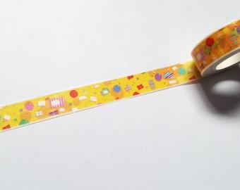 Birthday party washi tape, Birthday washi tape, Party washi tape, Washi tape, Planner supplies, Paper tape, Birthday, Party, Celebration