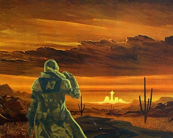 """Art Parody Print """"Fallout New Vegas: Lonesome Road"""" 