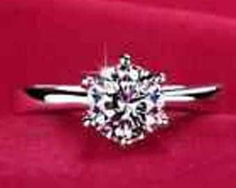 925 Silver Plated Cubic Zirconia Ring Size 7