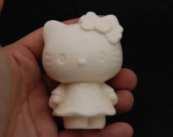 Kitty#1, Silicone Mold Mould Sugarcraft Candle Soap Chocolate Polymer Clay Melting Wax Resin Tools Ornament Handmade
