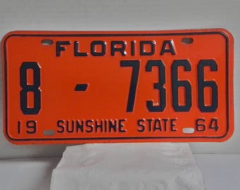 1964 Florida License Plate