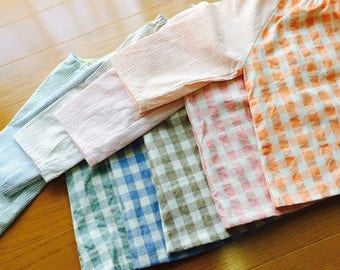 12-24months Baby blouse, baby blouse, baby apron <orange>