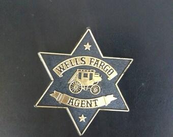 Toy Wells Fargo badge