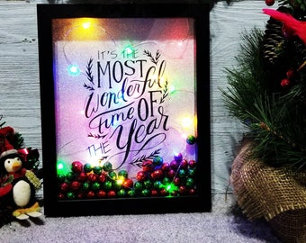 Most Wonderful Time Of The Year Shadow Box