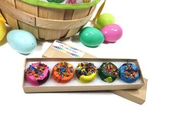 Donut Crayons for Kids Easter Basket Gift - Donut Easter Gift - Allergy Friendly Easter - Toddler Easter Basket Filler