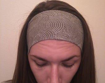 Greige Dots Headband