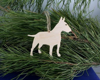 Dog Bull terrier Wooden Christmas Tree decoration