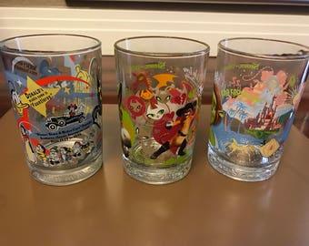 Vintage McDonald's Commerative Glasses - Set of 3 - Pristine!