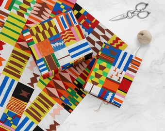 Kente Cloth - 2015-073-10 - Amazing and colorful wrapping paper on a mission supports public school art education nationwide